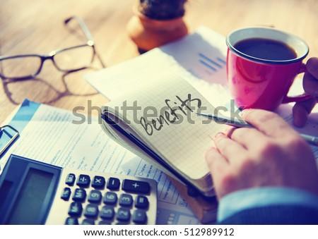 Benefits Income Compensation Advantage Assistance Concept Сток-фото ©