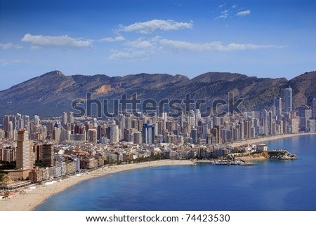 Benidorm city and marina
