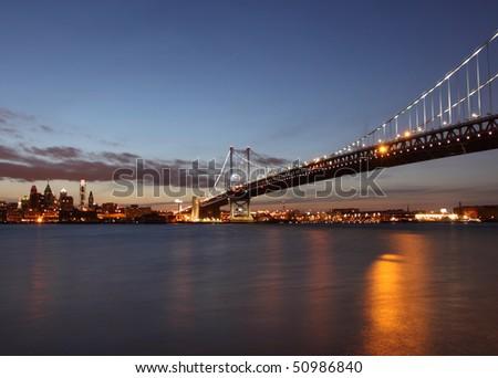 Benjamin Franklin Bridge - stock photo