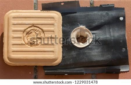Bentonite Filter Cake #1229031478
