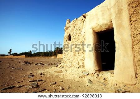 Berber house in Sahara Desert, Africa