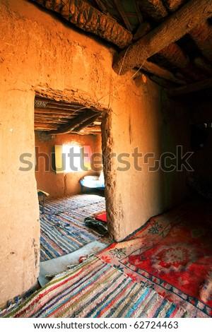 Berber room, Sahara Desert, Africa