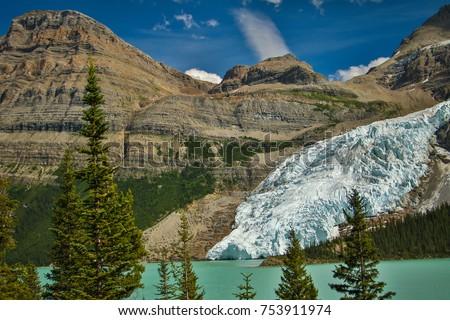 Berg glacier falling into Berg Lake, Mt. Robson provincial park, British Colombia, Canada #753911974