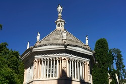 Bergamo, Lombardy, Italy: Baptistery of the cathedral, exterior
