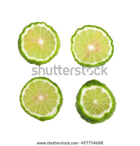 Bergamot fruit, Bergamot isolated on white background. #497754688