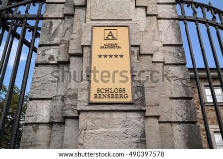 BERGISH GLADBACH, GERMANY - SEPTEMBER 18, 2016: Althoff Grandhotel Schloss Bensberg #490397578