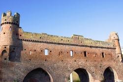 Berkelpoort in Zutphen in theNetherlands. ruinAn old medieval defensive wall