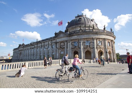BERLIN - AUGUST 8: Bode Museum located on Museum Island, a UNESCO-designated World Heritage Site on Berlin, Germany on August 8, 2012