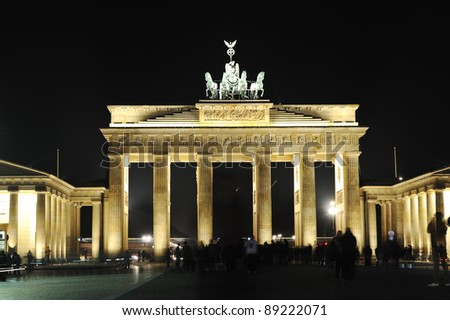 Berlin Brandenburg Gate at night