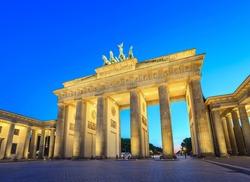 Berlin Brandenburg Gate at night, Berlin, Germany