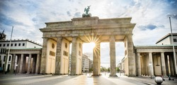 Berlin - Brandenburg Gate at sunrise, Germany