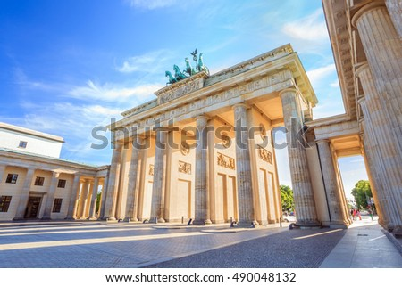 Berlin Brandenburg Gate (Brandenburger Tor), Berlin, Germany