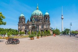 Berlin Cathedral and Berliner Fernsehturm (Berlin TV Tower)