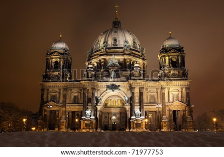 Berlin Cathedral (Berliner Dom) at night. Berlin, Germany