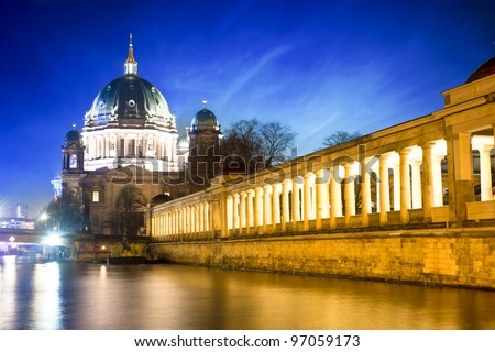 Berlin Cathedral - Berliner Dom - Germany - stock photo