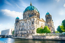 Berlin Cathedral in Berlin in beautiful summer day