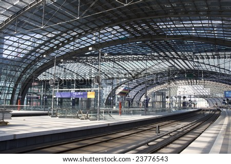 Berlin Central Station. Germany.