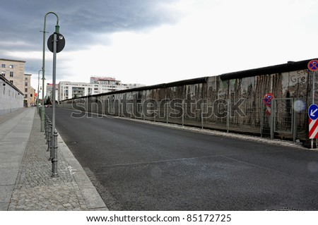 BERLIN - CIRCA AUGUST 2011: The remaining ruin of Berlin Wall circa August 2011 in Berlin, Germany.