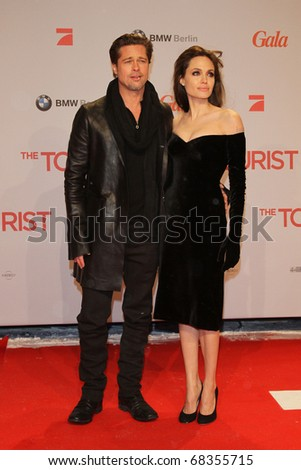 BERLIN - DECEMBER 14: Brad Pitt and Angelina Jolie attend the 'The Tourist' European premiere at CineStar on December 14, 2010 in Berlin, Germany.