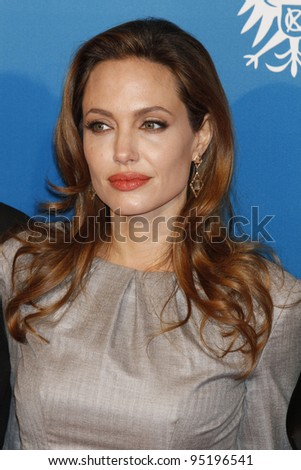 BERLIN - FEB 13: Angelina Jolie at the Cinema For Peace Gala during day five of the 62nd International Film Festival on February 13, 2012 in Berlin, Germany