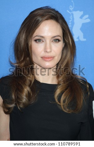 BERLIN - FEBRUARY 11: Angelina Jolie attends photocall for the premiere of the movie  In - The Land Of Blood And Honey - at the  62. Berlinale at  Hotel Hyatt in Berlin am 11.02.2012