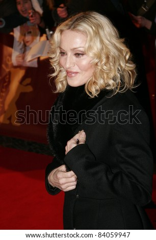 "BERLIN - FEBRUARY 13: Madonna attends the ""Filth and Wisdom"" premiere at the 58th Berlinale Film Festival at the Zoo Palast on February 13, 2008 in Berlin, Germany."