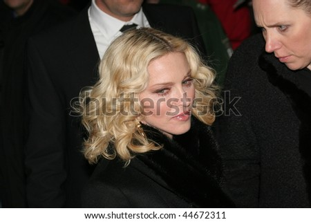 BERLIN - FEBRUARY 13: Madonna greets fans prior to the 'Filth and Wisdom' Premiere as part of the 58th Berlinale Film Festival at the Zoo Palace on February 13, 2008 in Berlin, Germany
