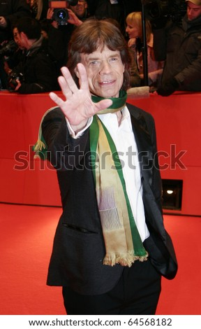 BERLIN - FEBRUARY 7: Mick Jagger attends the 'Shine A Light' Premiere as part of the 58th Berlinale Film Festival at the Berlinale Palast on February 7, 2008 in Berlin, Germany