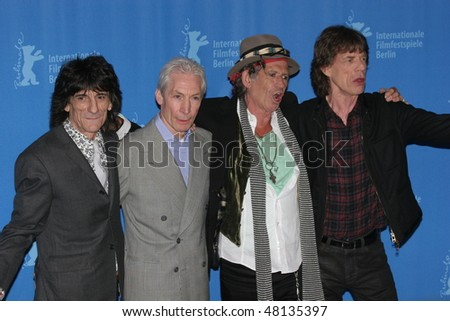 BERLIN - FEBRUARY 7: Rolling Stones singer Mick Jagger  and  Keith Richards pose at the 'Shine A Light' Photocall as part of the 58th Berlinale Film Festival  on February 7, 2008 in Berlin, Germany
