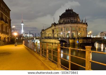 berlin, germany, at night