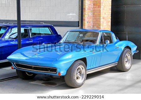 Berlin Germany August 12 2014 Classic American Muscle Car