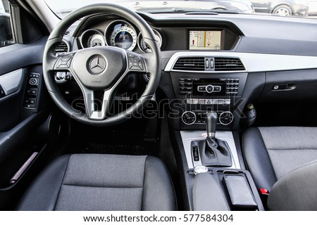 Berlin Germany August 14 2014 Interior Of The Modern Luxury Car