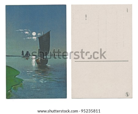 "BERLIN, GERMANY, CIRCA 1910 - Published by K. G. L. - Serial No. 1009 - ""DARK SHIP"" - circa 1910"