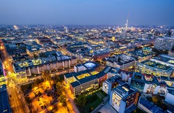 berlin - germany - cityscape at night