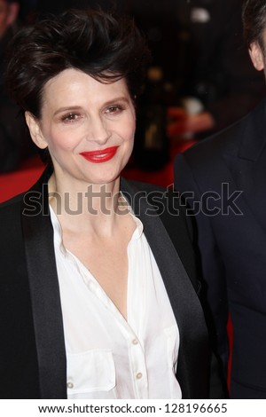 BERLIN, GERMANY - FEBRUARY 12: Actress Juliette Binoche attends the 'Camille Claudel 1915' Premiere during the 63rd Berlinale  Festival at Berlinale Palast on February 12, 2013 in Berlin, Germany