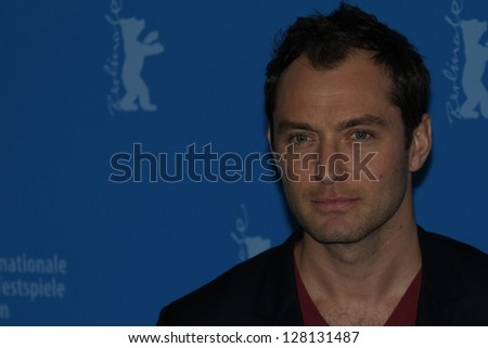 BERLIN, GERMANY - FEBRUARY 12:  Jude Law attends the 'Side Effects' Photocall during the 63rd Berlinale International Film Festival at the Grand Hyatt Hotel on February 12, 2013 in Berlin, Germany. - stock photo