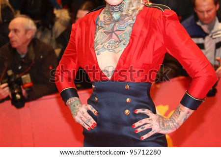 BERLIN, GERMANY - FEBRUARY 18: Lexy Hell (tattoo detail)  attends the Closing Ceremony during of the 62nd Berlin  Film Festival at the Berlinale Palast on February 18, 2012 in Berlin, Germany.