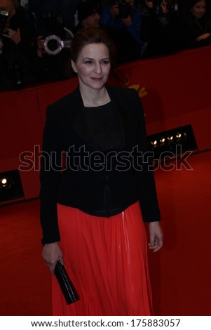 BERLIN, GERMANY - FEBRUARY 09: Martina Gedeck attends the 'Nymphomaniac Volume I (long version)' premiere during 64th Berlinale Film Festival at Palast on February 9, 2014 in Berlin, Germany.