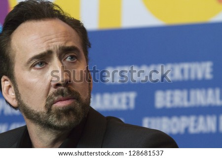 BERLIN, GERMANY - FEBRUARY 15: Nicolas Cage attends 'The Croods' press conference at the 63rd Berlinale International Film Festival on February 15, 2013 in Berlin, Germany.