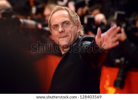 """BERLIN - GERMANY - FEBRUARY 15:  Uwe Ochsenknecht at the 63rd Annual Berlinale International Film Festival """"The Croods"""" premiere at Berlinale Palast on February 15, 2013 in Berlin, Germany."""