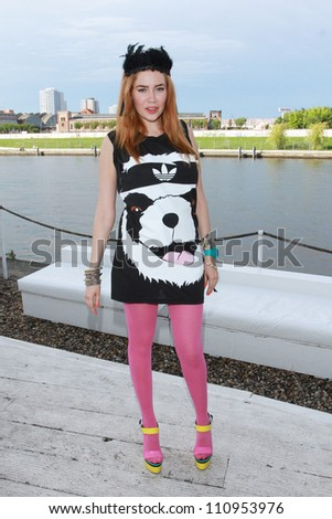 BERLIN, GERMANY - JULY 08: Palina Rojinski  attends a Bacardi Record Release Party with Kelly Rowland at 'Spindler and Klatt' on July 08, 2012 in Berlin, Germany.