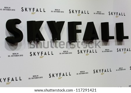 "BERLIN, GERMANY - OCTOBER 30:Germany premiere of James Bond 007 movie ""Skyfall"" at the Theater am Potsdamer Platz on October 30, 2012 in Berlin, Germany"