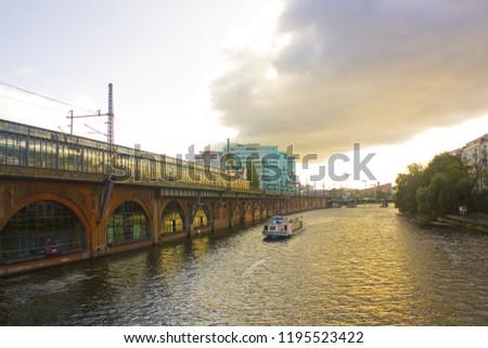 BERLIN, GERMANY - September 25, 2018: Berlin subway bridge #1195523422
