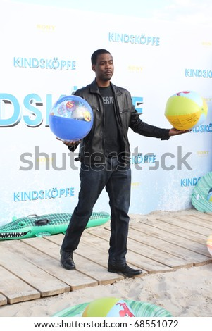 BERLIN - JULY 30:  Chris Rock attends the Beach BBQ for the German Premiere of 'Kindskoepfe' (Grown Ups) at the O2 World on July 30, 2010 in Berlin, Germany