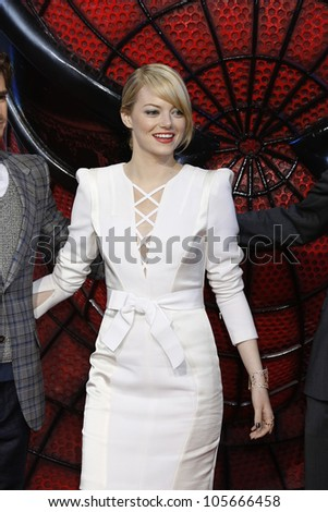 """BERLIN - JUN 20: Emma Stone at the premiere of """"The Amazing Spider-Man"""" on June 20, 2012 in Berlin, Germany"""