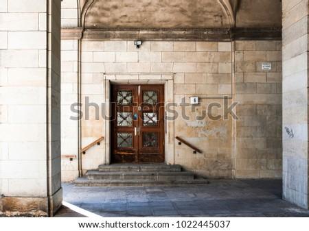 berlin june 3 old door of a...