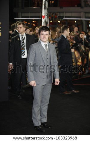 BERLIN - MAR 16: Josh Hutcherson is at the Hunger Games premiere on March 16, 2012 in Berlin, Germany