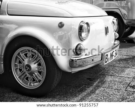 "BERLIN - MAY 28: Fiat Nuova 500, the exhibition ""125 car history - 125 years of history Kurfurstendamm"", May 28, 2011 in Berlin, Germany"