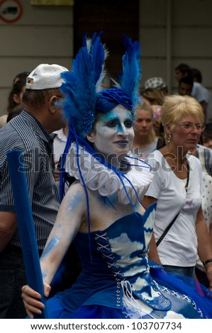 "BERLIN - MAY 27: The Traditional and the annual ""Carnival of Cultures"", May 27, 2012 in Berlin, Germany - stock photo"