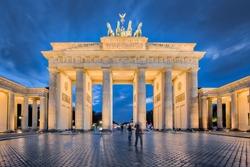 Berlin night, the Brandenburg Gate in Berlin, Germany.